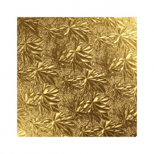 """Double Thick Turned Edge Cake Card - Square - Gold - 10"""""""