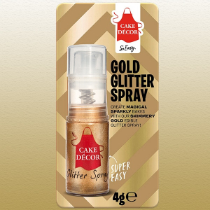Cake Décor Non-Aerosol Glitter Pump Spray - Gold (4g)