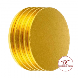 """Cake Board Drum - Round - Gold - 12"""" (Pack of 5)"""