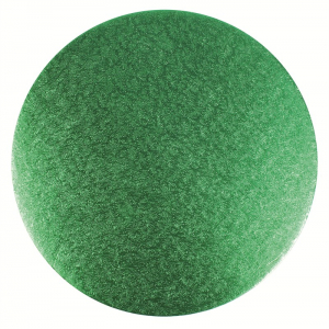 """Double Thick Turned Edge Cake Card - Round - Green - 10"""""""