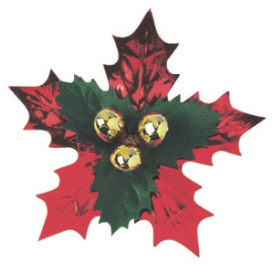 Culpitt Decoration - Foil Holly Pic - 63mm (Pack of 50)