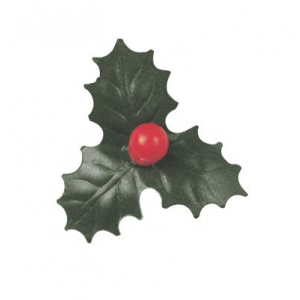 Culpitt Decoration - 3 Leaf Holly & Berries - 32mm (Pack of 200)