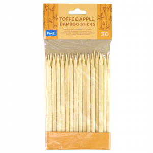PME Toffee Apple Bamboo Sticks (Pack of 30)