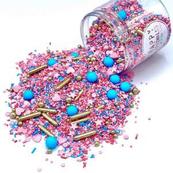 Happy Sprinkles Edible Sprinkle Mix - Royal Glitter (90g)