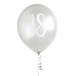 Hootyballoo Number Balloons - Silver 18