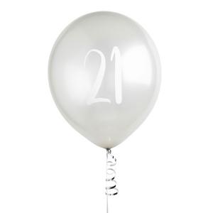 Hootyballoo Number Balloons - Silver 21