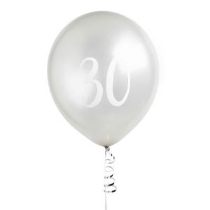 Hootyballoo Number Balloons - Silver 30