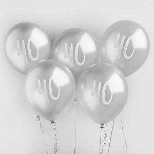 Hootyballoo Number Balloons - Silver 40