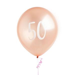Hootyballoo Number Balloons - Rose Gold 50
