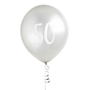Hootyballoo Number Balloons - Silver 50
