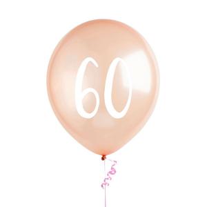 Hootyballoo Number Balloons - Rose Gold 60