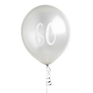 Hootyballoo Number Balloons - Silver 60