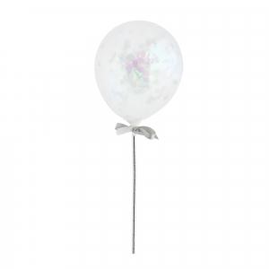 Hootyballoo Mini Confetti Balloon Wands - Iridescent (Pack of 5)