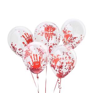 Hootyballoo Confetti Balloons - Bloody Halloween (Pack of 5)