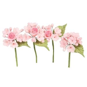 House of Cake Mini Sugar Flower Sprays - Pink (Pack of 4)