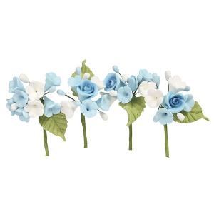 House of Cake Mini Sugar Flower Sprays - Blue (Pack of 4)