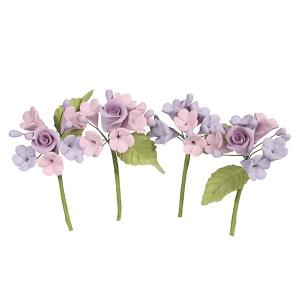 House of Cake Mini Sugar Flower Sprays - Lilac (Pack of 4)