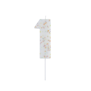 Hootyballoo Giant Sprinkle Number Candle - 1