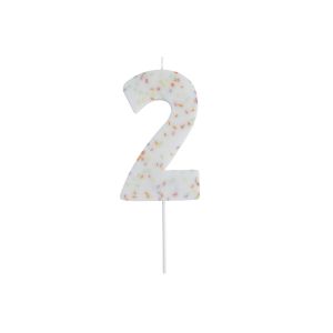 Hootyballoo Giant Sprinkle Number Candle - 2