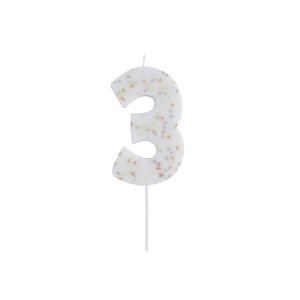 Hootyballoo Giant Sprinkle Number Candle - 3