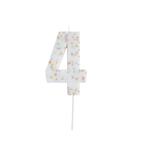 Hootyballoo Giant Sprinkle Number Candle - 4