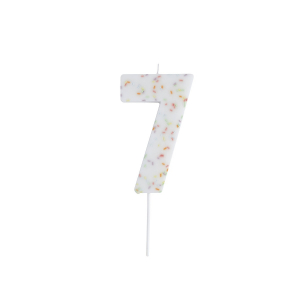 Hootyballoo Giant Sprinkle Number Candle - 7