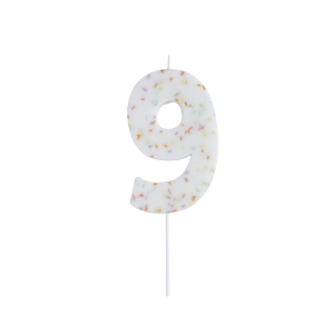 Hootyballoo Giant Sprinkle Number Candle - 9