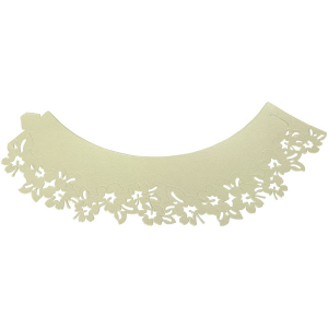 PME Decorative Lace Cupcake Wrappers - Flowers - Ivory (Pack of 12)