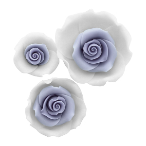 Culpitt SugarSoft Roses - Ombre Blue - Assorted Sizes (Box of 12)