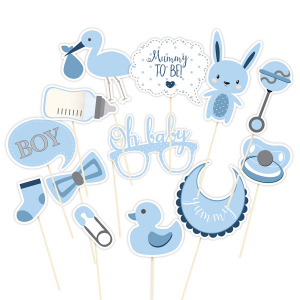 Club Green Photo Booth Props - Blue (Pack of 13)