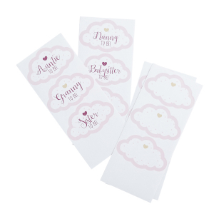 Club Green Assorted Guest Stickers - Pink (Pack of 18)