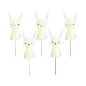 Club Green Cake Picks - Bunny Tassel - Unisex (Pack of 6)