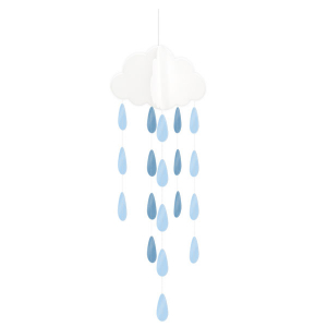 Club Green Hanging Clouds & Droplets - Blue (Pack of 2)