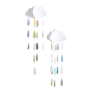 Club Green Hanging Clouds & Droplets - Unisex (Pack of 2)