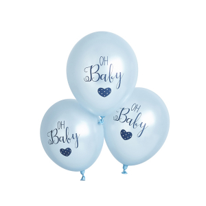 Club Green Oh Baby Balloons Blue (Pack of 6)