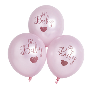 Club Green Oh Baby Balloons Pink (Pack of 6)
