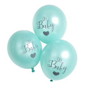 Club Green Oh Baby Balloons Mint (Pack of 6)