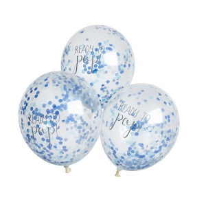 Club Green Ready To Pop! Confetti Balloons Blue (Pack of 5)