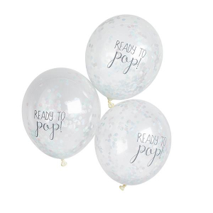 Club Green Ready To Pop! Confetti Balloons Unisex (Pack of 5)
