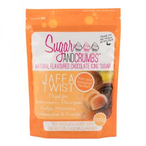 Sugar & Crumbs Natural Flavoured Chocolate Icing Sugar - Jaffa Twist (500g Bag)