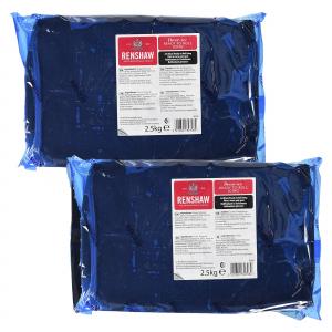 Renshaw Decor-Ice Ready To Roll Icing - Jet Black (2 x 2.5kg)