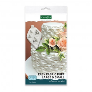 Katy Sue Designs Mould - Creative Cake System - 2-in-1 Easy Fabric Puff (Large & Small)