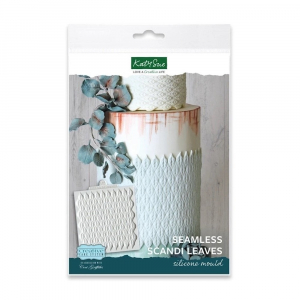 Katy Sue Designs Mould - Creative Cake System - Seamless Scandi Leaves