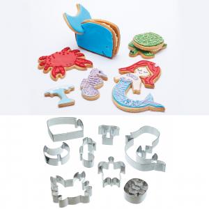 KitchenCraft 3D Sea Life Cookie Cutter Set
