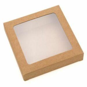 "Kraft Window Box - 8"" Square x 1.5"" Deep"