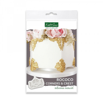 Katy Sue Designs Mould - Rococo Corners And Crest