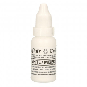 Sugarflair Sugartint Droplet Colour - White (14ml)
