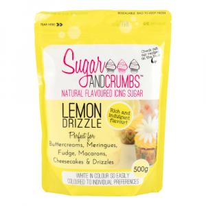 Sugar & Crumbs Natural Flavoured Icing Sugar - Lemon Drizzle (500g)