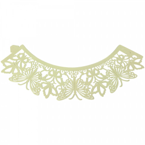 PME Decorative Lace Cupcake Wrappers - Butterfly - Ivory (Pack of 12)