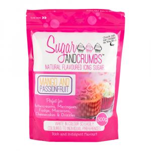 Sugar & Crumbs Natural Flavoured Icing Sugar - Mango & Passionfruit (500g)
